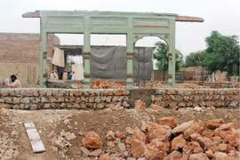 People raze historical mosque in Kohat for reconstruction