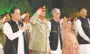 Imran dismisses civil-military divide as myth