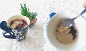 Cook-it-yourself: Blueberry muffin in a mug