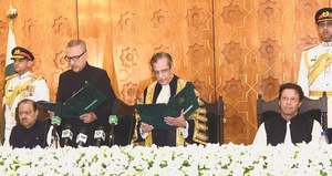 Arif Alvi sworn in as 13th president