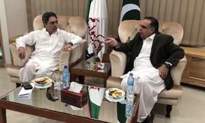 گورنر سندھ کا ایم کیو ایم کے عارضی مرکز بہادرآباد کا دورہ