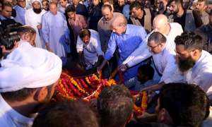 Kulsoom Nawaz laid to rest at Jati Umra in Lahore