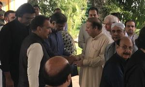 Bilawal, Zardari visit Jati Umra to offer condolences over Begum Kulsoom's death