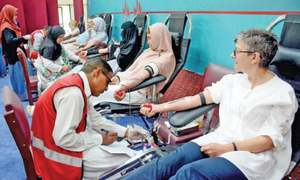 Blood donation camp at Indonesian embassy