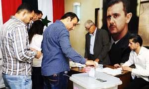 شام: خانہ جنگی کے بعد حکومت کے زیر اثر علاقوں میں پہلے بلدیاتی انتخابات