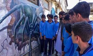 Scores visit 3D paintings exhibition in Swat