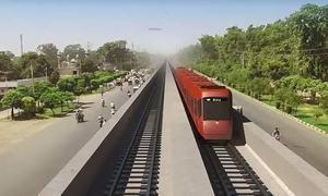 اورنج لائن میٹرو ٹرین کے اطراف شور اور ارتعاش ریکارڈ