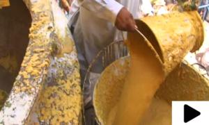 شہدائے کربلا کی یاد میں 100 من حلیم کی دیگ تیار