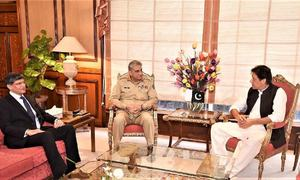 COAS calls on PM Khan to discuss security and regional stability