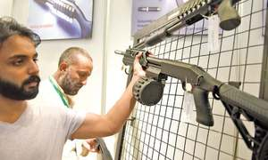 Arms exhibition showcases mostly imported items