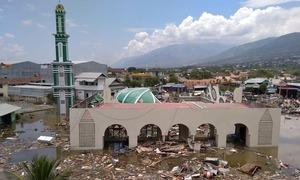 انڈونیشیا میں سونامی کی تباہ کاری