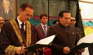 Raja Maqpoon takes oath as 6th Gilgit Baltistan governor