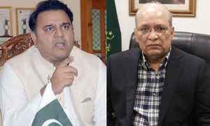 سینیٹ: وزیر اطلاعات اور مشاہدہ اللہ خان میں پھر تلخ کلامی، اپوزیشن کا شدید احتجاج
