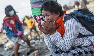In pictures: Destruction and defiance after Indonesia's quake-tsunami disaster