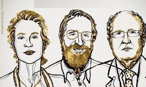 کیمسٹری کا نوبل انعام خاتون سمیت 3 سائنسدانوں کے نام