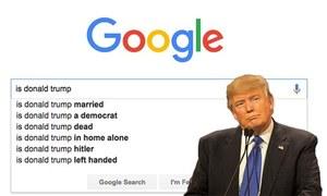 ایک عام گوگل سرچ امریکی صدر کی 'اصل حقیقت' کیسے سامنے لائی؟