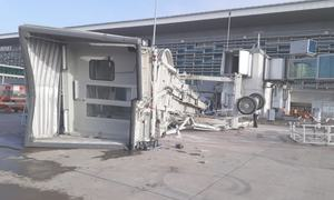5 injured as aerobridge, baggage control area ceiling collapse at Islamabad airport