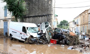 اسپین: طوفانی بارش نے جزیرہ مالوروکا میں تباہی مچادی