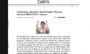 Fake news about Maryam Nawaz being shared online