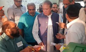 Nawaz unable to vote at Lahore's NA-124