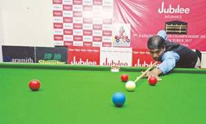 Qadir's third spot keeps Sindh alive on national snooker stage