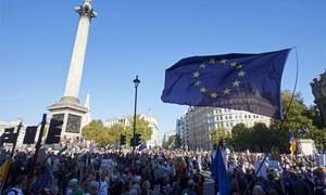 برطانیہ میں یورپی یونین سے علیحدگی کیلئے پھر ریفرنڈم کا مطالبہ