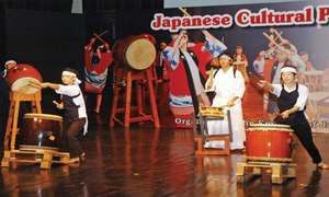 Ancient forms of Japanese martial arts, music showcased