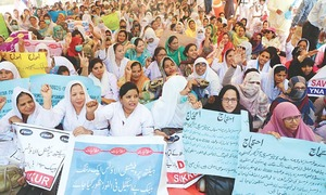 Nurses' protest hits health delivery system  across Sindh