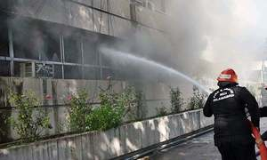 Islamabad Press Information Dept building fire put out after two hours