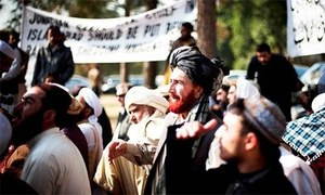 Visit of police officials stirs forceful protests in Khyber