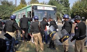 آسیہ بی بی کی بریت کے خلاف احتجاج، ہنگامہ آرائی کے الزام میں 1100 افراد گرفتار
