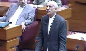 Khursheed Shah mocks information minister's 'send miscreants to space' remarks