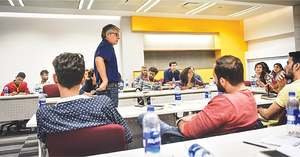 Film students learn the art of scriptwriting