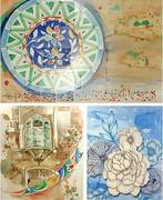 Work inspired by Portuguese Azulejo, Pakistani kashigari exhibited