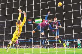 Betis deal Barca first home league defeat in two years