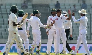Mushfiqur's record double century puts Bangladesh on top