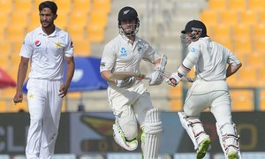 New Zealand fight back with Williamson's half century on opening day of first Test against Pakistan