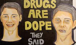 Exhibition educating students against drug use opens