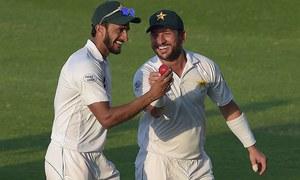 پاکستان کو ابو ظہبی ٹیسٹ میں جیت کیلئے 176 رنز کا ہدف