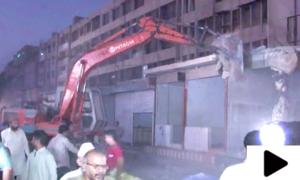 کراچی میں تجاوزات کے خلاف آپریشن میں800 دکانیں مسمار