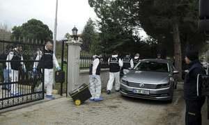 Turkish police search villa as part of Khashoggi death probe