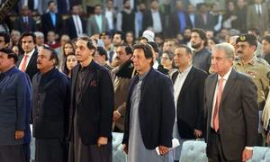 PM Khan puts greater focus on 'future plans' in 100-day review speech