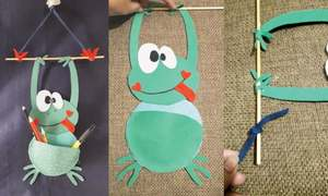 Wonder Craft: Frog on the wall