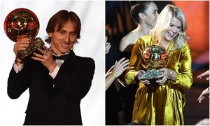 Ballon d'Or 1sts: Modric ends reign of Messi and Ronaldo, Hegerberg takes women's award