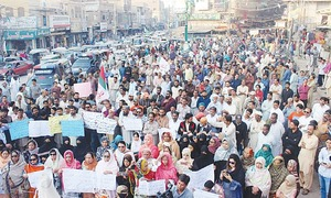 MQM-P holds protest over water, sewerage issues in Hyderabad