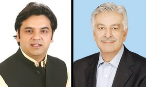 PTI's Usman Dar hands over 'money laundering evidence' against Khawaja Asif to NAB