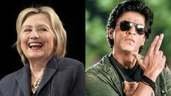 Hillary Clinton goes desi girl for Shah Rukh Khan