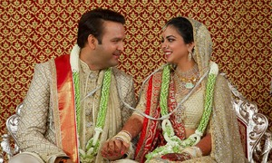 ایشا امبانی اور آنندپیرامل رشتہ ازدواج سے منسلک ہوگئے