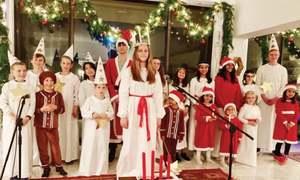Swedish envoy hosts Lucia celebration