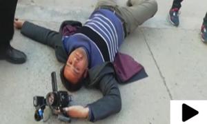 نواز شریف کے گارڈز کا نجی ٹی وی چینل کے کیمرہ مین پر تشدد